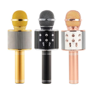 LICHIDARE STOC :Microfon Karaoke Wireless Bluetooth WS-858