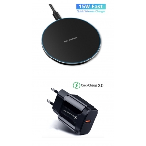 Incarcator wireless original e-smartgadget, fast charge, 15w, QI charge ,Fashion +Incarcator fast chargers 18W/3.0